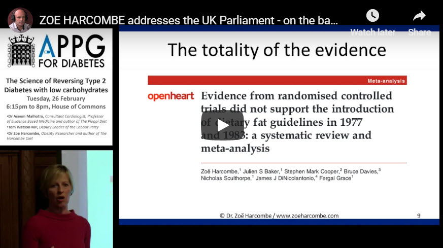 ZOE HARCOMBE ADDRESSES THE UK PARLIAMENT - ON THE BAD