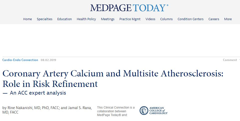 Medscape CAC Coronary Artery Calcification Endorsement