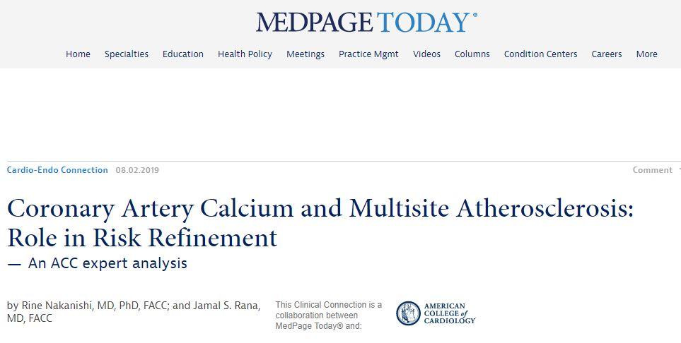 Medscape CAC Coronary Artery Calcification Endorsement