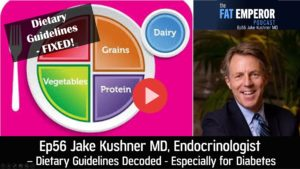 Ep56 Jake Kushner MD Dietary Guidelines Explored Especially for Type 1 Diabetes